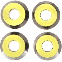 Купить амортизаторы для скейтборда юнион black/yellow желтый,черный 1176774
