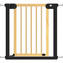 Купить барьер-калитка для дверного проема baby safe xy-006, 75-85 см, черный металл + натуральное дерево ( id 13278264 )
