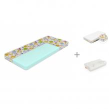 Купить матрас sleepy лисенок print 80х190 см, орматек защитный чехол kids 80х190 см и подушка baby comfort mini 39х24 см