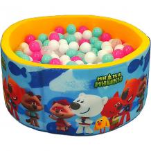 """Купить сухой бассейн hotenok """"мимимишки"""", желтый, 40 см, 200 шариков ( id 12191160 )"""