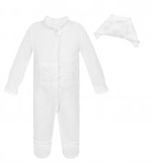 Купить комплект комбинезон/чепчик папитто, цвет: белый ( id 6068833 )