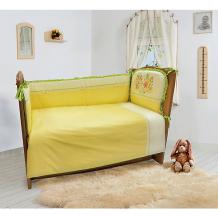 """Комплект постельного белья из 6 предметов Soni Kids """"Мой садик"""" салатовый ( ID 9452921 )"""
