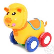 Купить каталка игруша лев, цвет: желтый, 14.5 см ( id 10178820 )