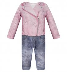 Купить комбинезон папитто fashion jeans, цвет: розовый/синий 561-01 86