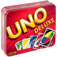 Купить карточная игра mattel games «уно», версия люкс 1604746