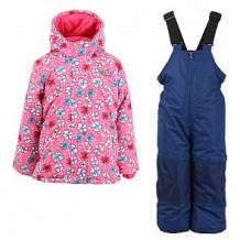 Купить комплект куртка/полукомбинезон salve, цвет: розовый/т.синий ( id 10675637 )