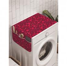 Купить ambesonne органайзер для хранения на стиральную машину случайные сердца 120x45 см cwm_210717