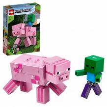 Купить конструктор lego minecraft 21157 большие фигурки minecraft, свинья и зомби-ребёнок ( id 12180286 )