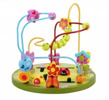 Купить деревянная игрушка classic world лабиринт цветочные горки 4122