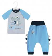 Купить комплект футболка/брюки aga croc, цвет: голубой/серый ( id 8847145 )