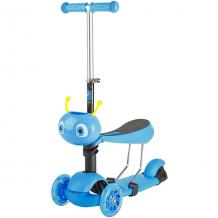 Купить трехколесный самокат novatrack disco-kids трансформер, голубой ( id 10827125 )