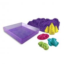 Купить kinetic sand 71402 кинетик сэнд кинетический песок для лепки + 4 формочки (в ассортименте)