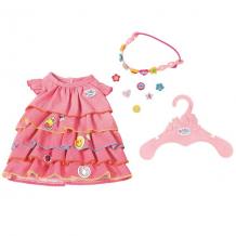 Купить zapf creation baby born 824-481 бэби борн платье и ободок-украшение