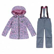 Купить комплект куртка/полукомбинезон stella's kids verona, цвет: серый/розовый ( id 12493846 )