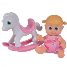 Купить bouncin' babies 803003 кукла бони с лошадкой-качалкой, 16 см