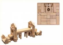 Купить деревянная игрушка престиж-игрушка набор конструктор 90 деталей к2491