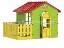 Купить mochtoys игровой домик с забором 10839 10839