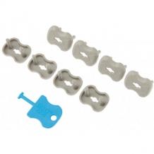 Купить набор заглушек для розеток roxy-kids 8 шт, графит ( id 8393513 )