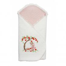 Купить осьминожка одеяло-конверт с жесткой спинкой и шапочка яблочный садик к148