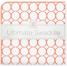 Купить фланелевая пеленка swaddledesigns orange mod, 110х110 см ( id 10785133 )