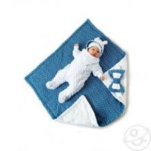 Купить комплект на выписку трио slingme, цвет: синий комбинезон/одеяло/шапка/снуд/бант 90 х 90 см ( id 12797506 )