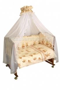 Купить комплект в кроватку сонный гномик пчелки (7 предметов) 732