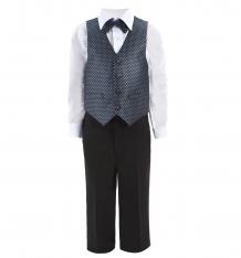 Купить костюм брюки/рубашка/бабочка/жилет rodeng, цвет: серый 5574