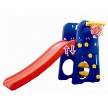Купить горка edu-play друзья с баскетбольным кольцом wj-312 /312wj