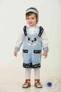 Купить карнавальный костюм батик зайчонок хвастунишка комбинезон/головной убор, цвет: голубой ( id 11706952 )