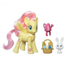 Купить hasbro my little pony b5675 май литл пони флаттершай с артикуляцией