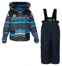 Купить комплект куртка/полукомбинезон peluche&tartine, цвет: синий f17m09bg
