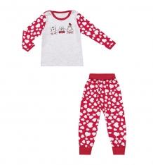 Купить комплект джемпер/брюки апрель сказки, цвет: красный/св.серый ( id 10456493 )