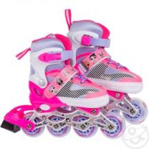 Купить ролики lol т16536 размер34-38, цвет: розовый ( id 12522154 )