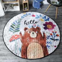 Купить porolon стеганый игровой коврик-мешок веселый медвежонок 1,5м rz555321