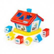 Купить сортер полесье логический домик смурфики с 6 кубиками №2 64424