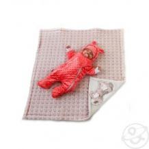 Купить комплект на выписку зайки slingme, цвет: розовый комбинезон/одеяло/шапка/снуд/бант 90 х 90 см ( id 12797548 )