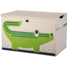 Купить сундук для хранения игрушек 3 sprouts крокодил 10826377