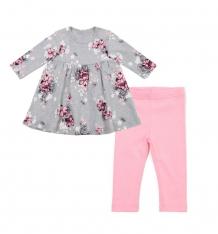 Купить комплект платье/леггинсы play today волшебное сияние, цвет: розовый/серый ( id 9774906 )