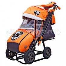 Купить санки-коляска galaxy snow city-2-1 панда колеса надувные