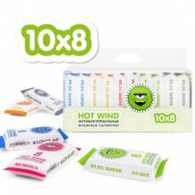 Купить влажные антибактериальные салфетки lovular, 10 х 8 шт/ уп lovular 997137080