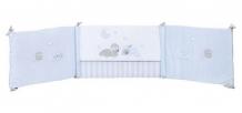 Купить бортик в кроватку nattou sam & toby овечка и собачка универсальный 604390