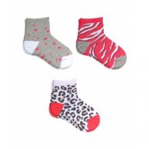 Купить носки детские, 3 пары, белый, серый, розовый mothercare 997242418