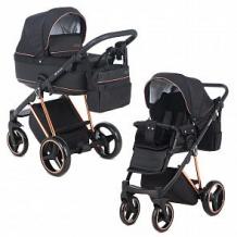 Купить коляска 2 в 1 adamex verona special edition, цвет: кожа черная/черный ( id 12697198 )