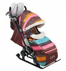Санки-коляска Nika Kids (7-3/5), цвет: скандинавский розовый ( ID 6769165 )