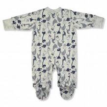 Купить комбинезон leo жирафчик, цвет: серый ( id 12596020 )