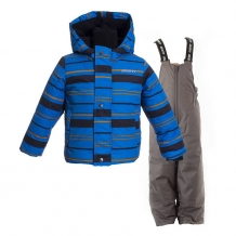Купить комплект куртка/полукомбинезон/шапка/шарф/варежки gusti boutique, цвет: синий ( id 1150154 )
