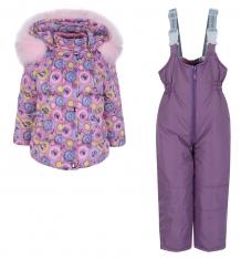 Купить комплект куртка/полукомбинезон ovas пташка, цвет: розовый ( id 9935979 )
