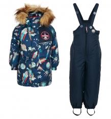 Купить комплект куртка/комбинезон лайки космос-2, цвет: синий ( id 7464559 )