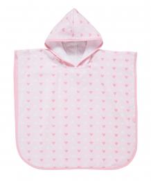"""Купить полотенце-пончо """"сердечки"""" с капюшоном, 52х59 см mothercare 4223083"""