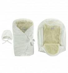 Комплект на выписку Leo, цвет: белый шапка/вкладыш/одеяло-конверт ( ID 9715032 )